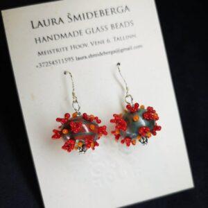 Corona Lampwork Earrings
